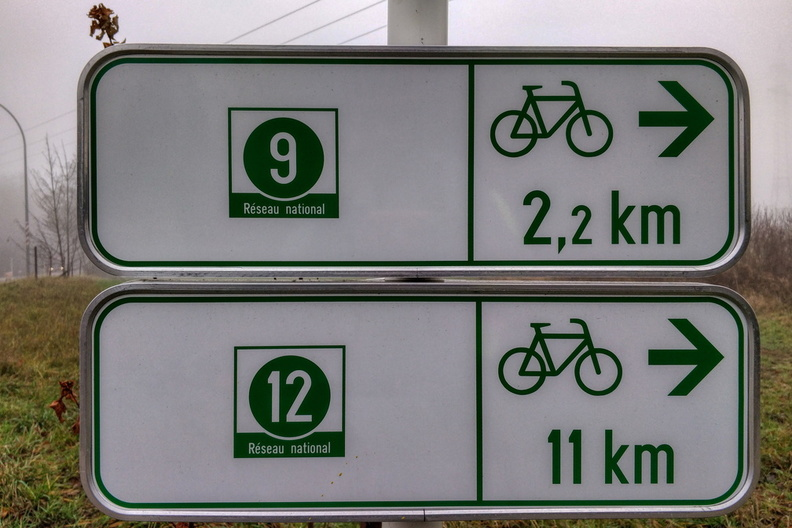 National cycleways direction sign