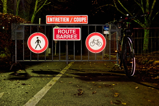 Bikes not allowed on cycleway
