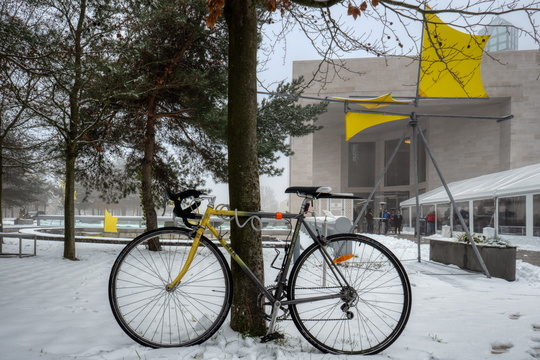 Bike at MUDAM