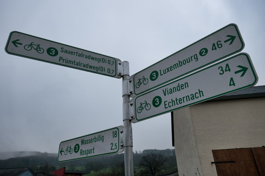 Cycling directions near Echternach