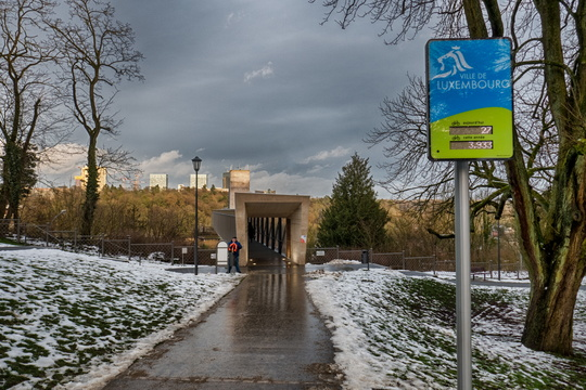 Gateway to Pfaffenthal lift