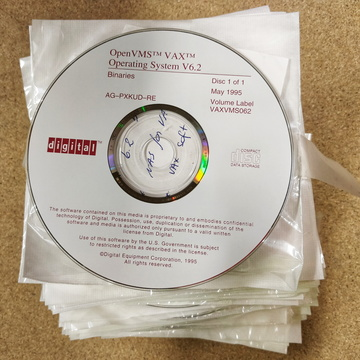 OpenVMS VAX Operating System CD ROM