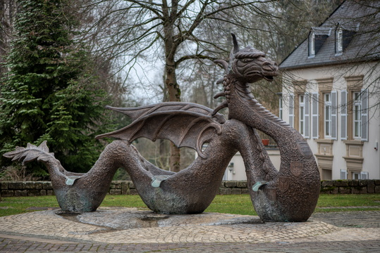 Dragon at Place Saint Michel, Mersch