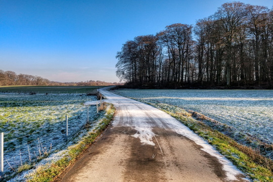 Frosty cycleway near Dippach