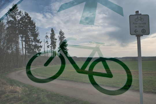 Double exposure on cycleway