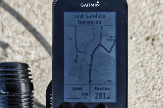 GPS lost signal in the middle of the way