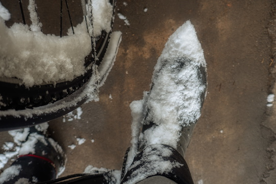 Snow on the feet