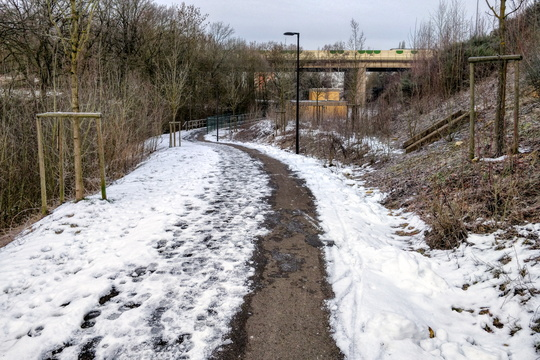 Merl to Helfent cycleway in winter