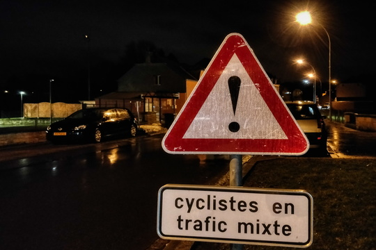 """Cyclistes en trafic mixte"": the killing joke"