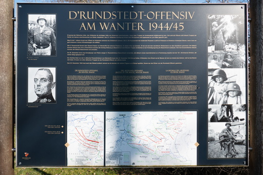 The Ardennes offensive (Battle of the Bulge), Winter 1944/45