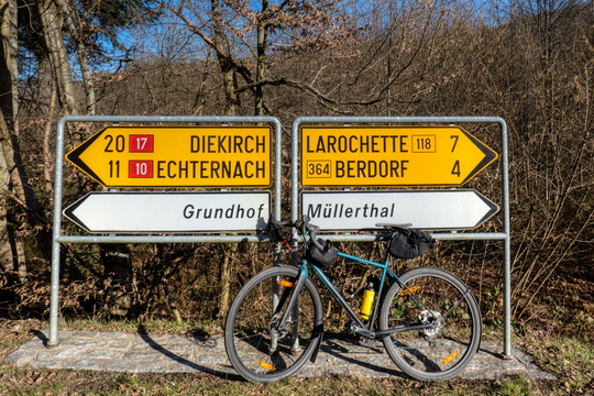 Sign between Mullerthal and Grundhof