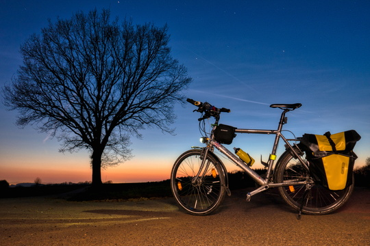 Cycling at twilight