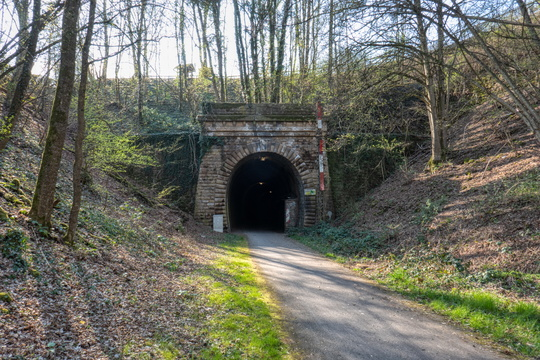 Tunnel on Sauertal-Radweg