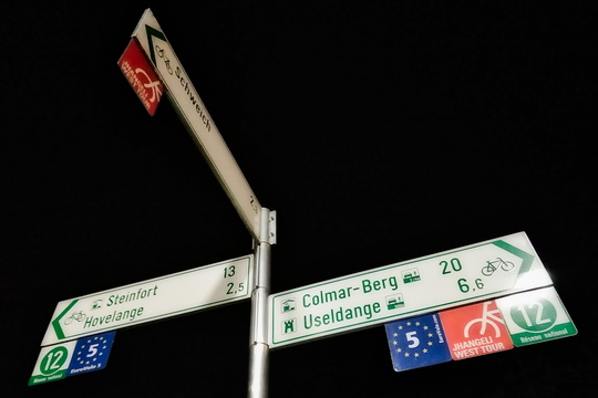 Cycling directions in Noerdange