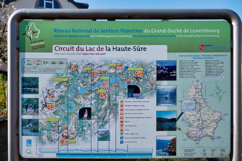 Circuit du Lac de la Haute-Sûre information board