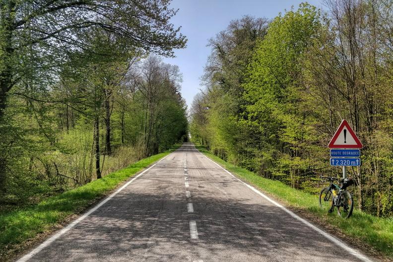 Route dégradée