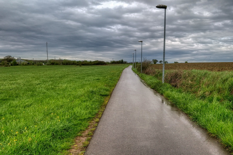 Rainy commute to work near Mamer-Lycée