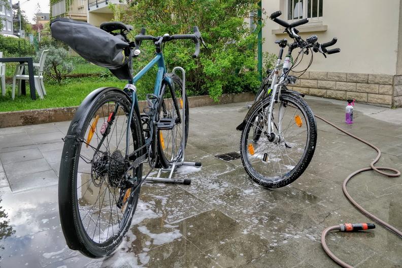 Bike washing session