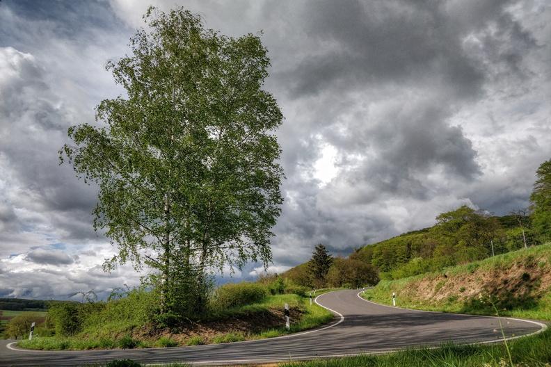 Curvy road near Ermsdorf