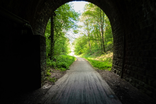 Old rail tunnel on Sauertal-Radweg