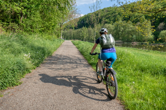 Following the Sauertal-Radweg