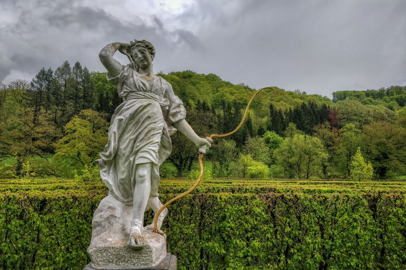 French gardens at New Castle of Ansembourg