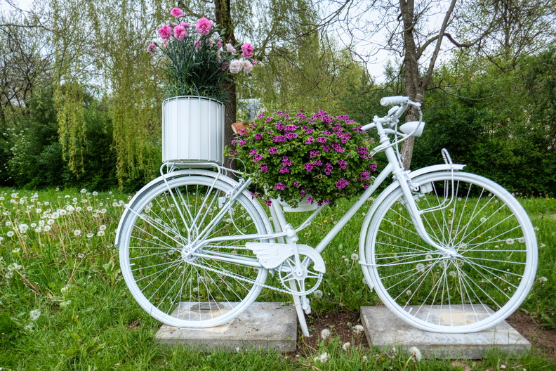 Flowered bike in Koerich