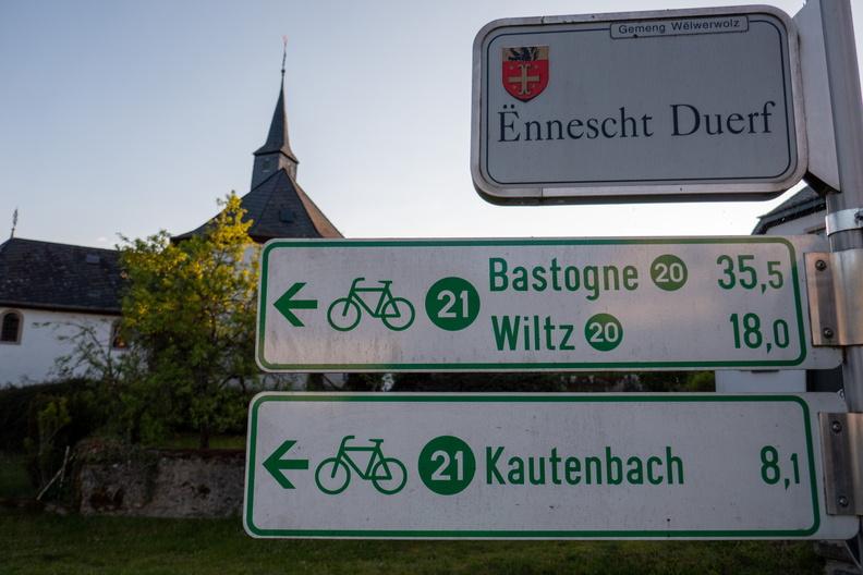 Cycling directions in Lellingen