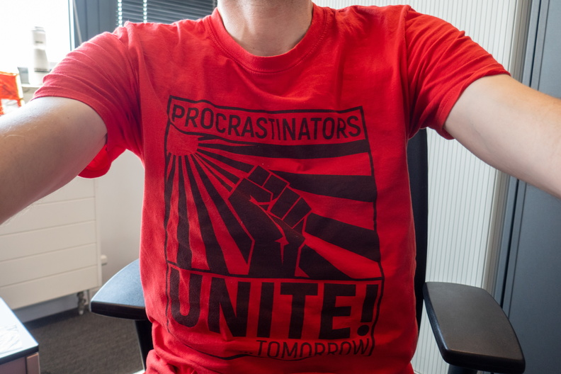 Tee of the day (proscastination)