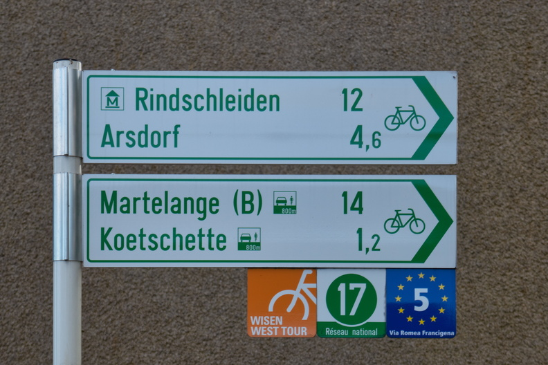 Cycling directions in Rambrouch