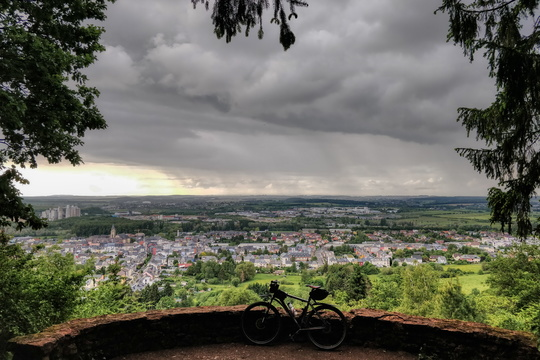 Esch/Alzette from Plaakesch Kopp viewpoint