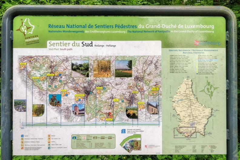 Sentier du Sud information board