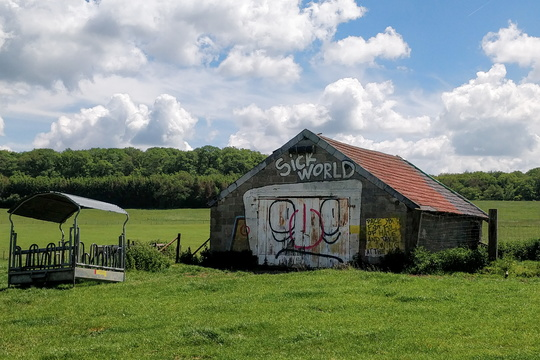 Sick World barn