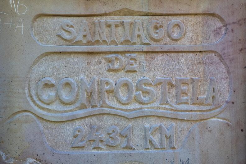 2431 km to Santiago de Compostela