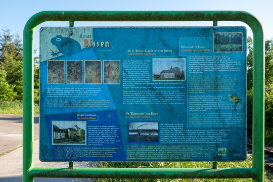 Information board about Bissen