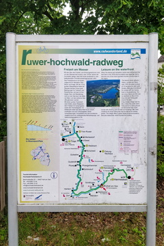 Ruwer-Hochwald-Radweg  information board near Kell am See