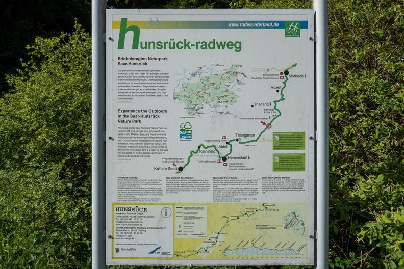 Hunsrück-Radweg information board near Hilscheid