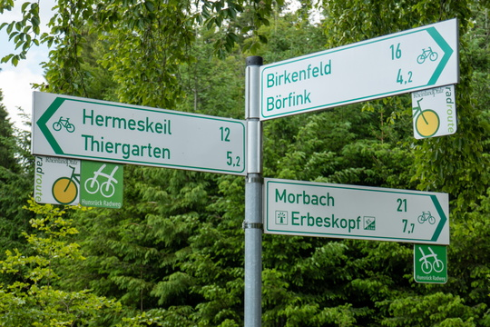 Cycling directions near Neuhütten
