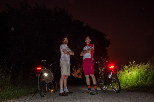 10,000 km photo stop with 2 WorldTraveller bikes