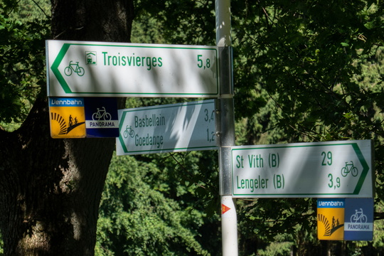Cycling directions near Troisvierges