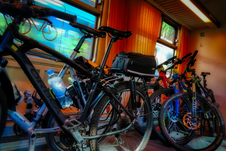 Bikes in the train
