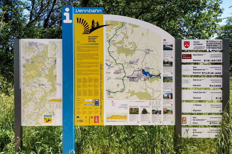 Vennbahn information board in Bütgenbach