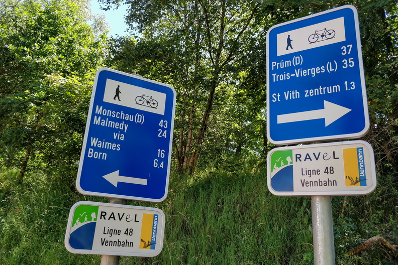 Cycling distances in St. Vith