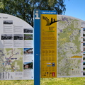 Vennbahn information board in St. Vith