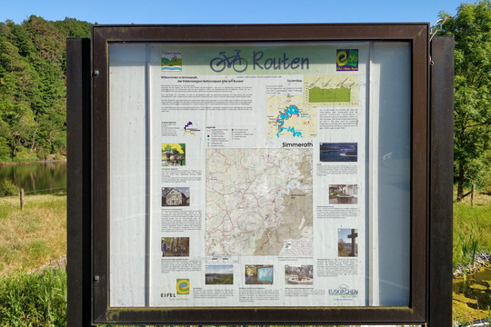 Eifel-Höhen-Route information board in Simmerath