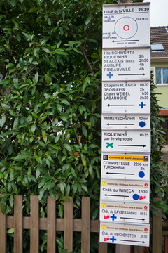 Hiking directions in Kaysersberg