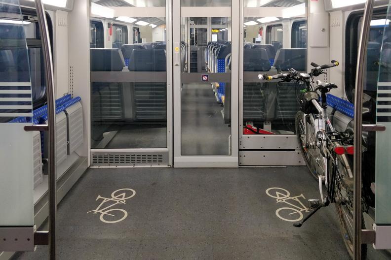 Bike in the train