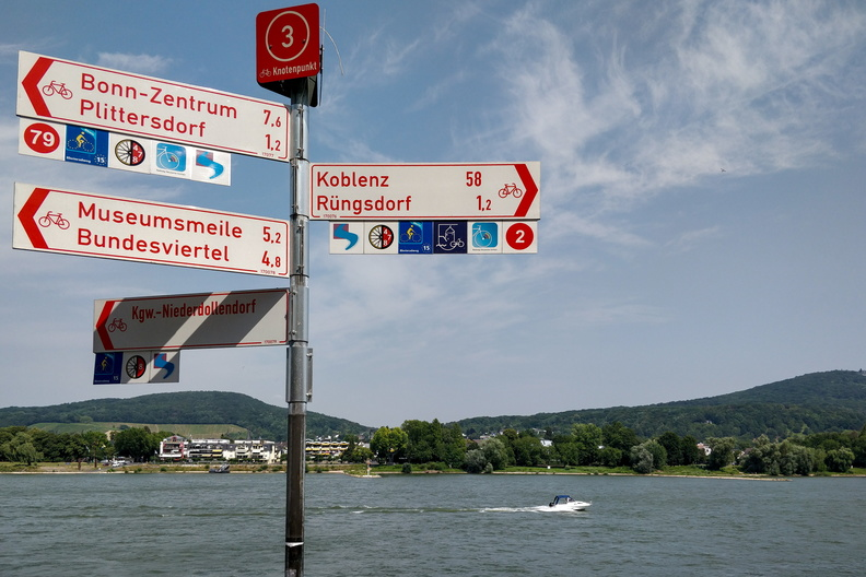 Sign is full of thematic cycling routes