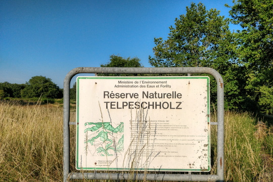 Telpeschholz Nature Reserve sign