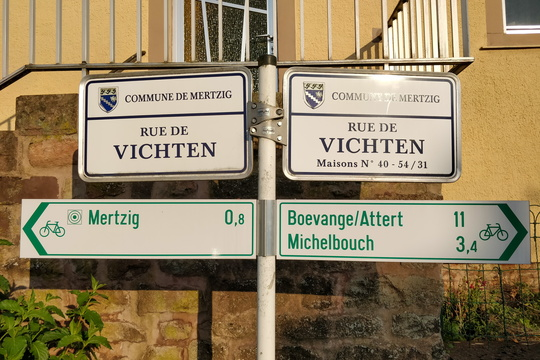 Cycling directions in Mertzig